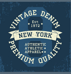 New york vintage grunge graphic for t-shirt vector