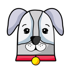 Nice dog a domestic mammal animal vector