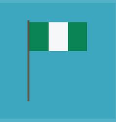 nigeria flag icon in flat design vector image