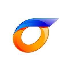 O letter blue and Orange logo design Fast speed vector image