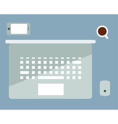 Office flat coffee vector
