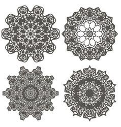 Ornamental geometric ornament vector