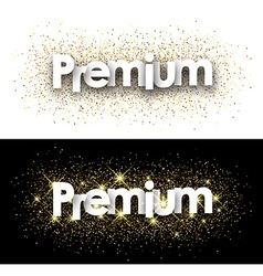 Premium paper banner vector image