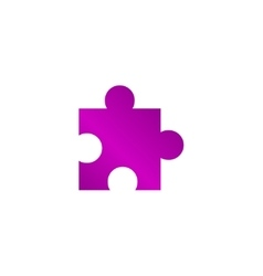 Puzzle Icon on Internet Button Original vector image