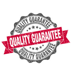 quality guarantee stamp sign seal vector image