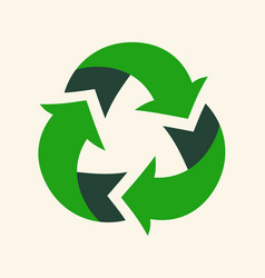 Recycle reuse arrows - ecology icon collection vector