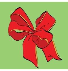 Red festive bow sash vector