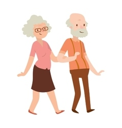 Retired couple vector