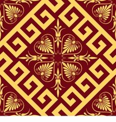 Seamless golden Greek ornament vector image vector image