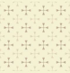 Seamless outline snow pattern vector