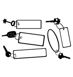 Set of different keys with tags vector