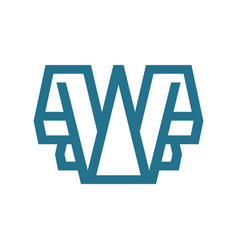 sign of the letter w vector image