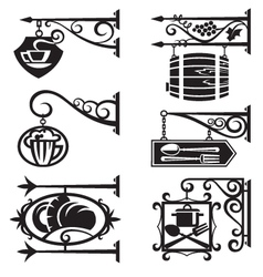signs of food and beverages vector image