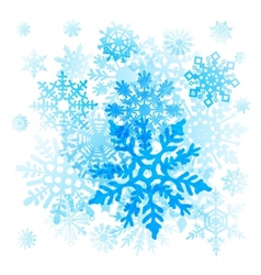Snowflakes Christmas icons collection graphic art vector image