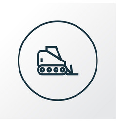 tractor icon line symbol premium quality isolated vector image