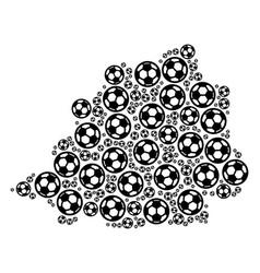vatican map mosaic of football balls vector image