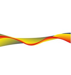 wavy wide line vector image