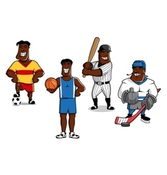 Cartoon sport game professional players vector image
