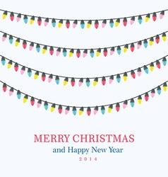 Christmas light bulbs set vector image