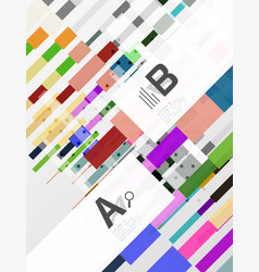 colorful stripes abstract background vector image
