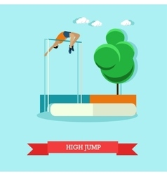 High jump sportsman Track and field athletics vector image