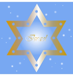 Israel - background with golden star of David vector image