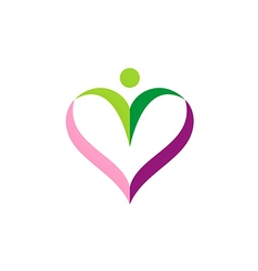 love sign people valentine logo vector image vector image