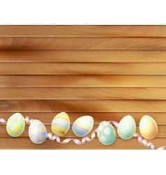 Colorful easter eggs background eps 10 vector