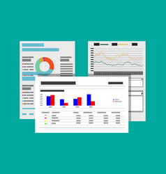 financial reports and documents vector image