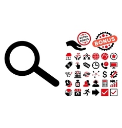 Find Flat Icon with Bonus vector image