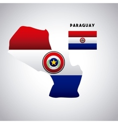 Paraguay country design vector