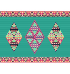 Unusual geometric seamless pattern vector image vector image