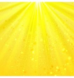 Yellow shining light top magic abstract vector image