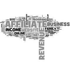 Affiliate revenue and the general store text word vector