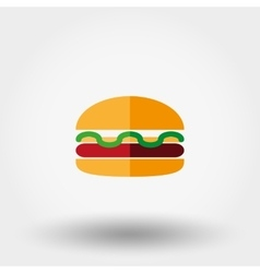 Burger icon Flat vector image