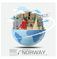 Norway landmark global travel and journey vector