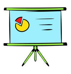 presentation screen icon icon cartoon vector image