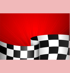 red racing background vector image