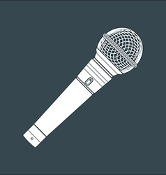 solid color stage microphone device vector image