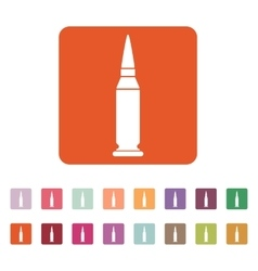 The bullet icon Weapon symbol Flat vector image