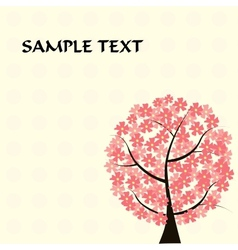 beautiful floral tree card vector image