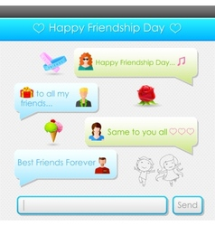Happy Friendship Day message vector image