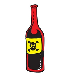 poison red bottle vector image