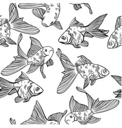 seamless pattern with image of a fishes vector image