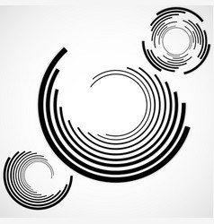 Abstract background of circles with lines vector