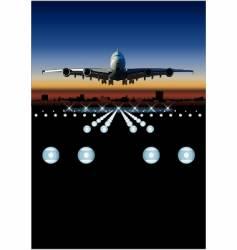 Airbus at sunrise vector