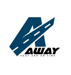 away logo designs road simple modern vector image