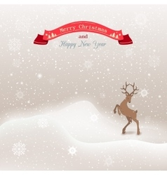 Background winter Christmas landscape with vector