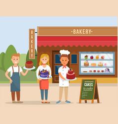 Bakery shop concept flat vector