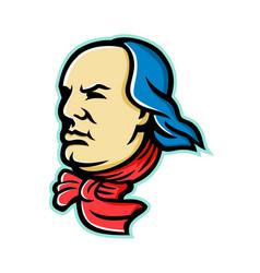 Benjamin franklin mascot vector
